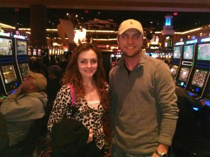 My 18th birthday, he brought me to the casino and let me spend his money, haha <3